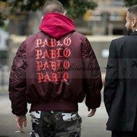 Wholesale Fashion high street M XXL men clothes brand clothing men jackets coat hip hop pablo kanye west pilot flight satin MA1 bomber jacket M153