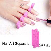 Wholesale Pair Soft Foam Sponge Nail Art Toe Finger Separator Dividers Nail Salon Pedicure Manicure Tool Nail Polish Support