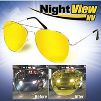 Wholesale 200pcs DHL New Night View NV Glare Reduction Glasses Clear Bright Great for Night Driving Protection from UVA UVB TVA024