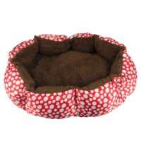 Wholesale 2015 New Soft Fleece Pet Dog Nest Bed Puppy Cat Warm Bed House Plush Cozy Nest Mat Pad Dot Colors Freeshipping Smile