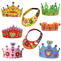 Wholesale Licy Jenny Art Kid childern boy girl DIY handwork crowns sun cap different kits