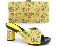 african leather bags - VIVILACE TH16 yellow Beautiful pu leather shoes matching with handbag sets for party lady African sandal and bag