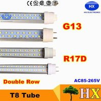 beam stock - In Stock Double row leds SMD2835 g13 r17d FT w w w led tube beam angle degree tube lights