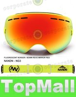 Wholesale LAI NG3 Snowboard Ski Goggles Large spherical lens Professional Double dlayer Skiing Goggles