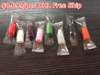 Wholesale Disposable drip tips Individually Wrapped Silicone Rubber Test Tester Drip Tips Colors DHL Free Ship