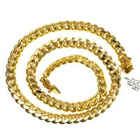 Wholesale Mens Miami Cuban Link K Yellow Gold in Chain grams X6 mm Necklace