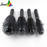 Wholesale 1pc Ceramic Ionic Round Comb Barber Hair Dressing Salon Styling Tools Brushes Anti static escova de cabelo Barrel Hairbrush Hot