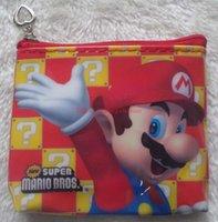Wholesale Super Mario Backpacks For Kids - New 24pcs Kawaii Cartoon Super Mario Children Coin Purse Zip Change Purse Wallet 9*12CM Kids Girl Backpack For Gift