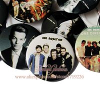 accessory pinback button - One Direction Cartoon Badges Holder Pinback pin Buttons School Supplies Clothes Bags Accessories Fashion Party Favor