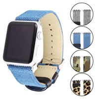Wholesale Apple Watch Band Fabric Strap Jeans Blue Leopard Camouflage Pattern Watch Bracelets for iWatch mm mm