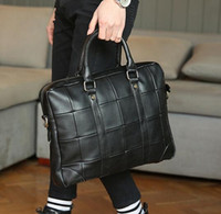 Wholesale Original design brand of soft leather briefcase bag trend men Vintage AONISI portable computer bag mens casual men briefcase