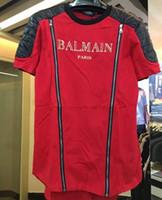 Wholesale Casual Cotton Balmain Men T Shirts Male Tops Tees Robin T Shirt Homme Paris Balmai Short Sleeve T Shirt Men s T Shirts Balmain Jeans Clothe