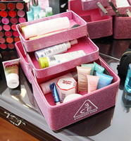 Wholesale 5 Hot office lady cute cosmetic box Women cosmetic bags make up case customise welcome