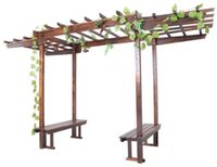 Wholesale Garden Furniture Wooden Garden Pergola With Two Chairs