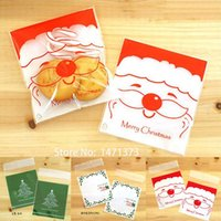 baking supplies sale - 2015 Hot Sale Plastic Christmas Gift Bag Bake Cookies Wedding Packaging Santa Claus Decoration Supplies Candy Bags