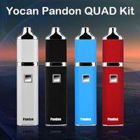 batteries quad - Authentic Yocan Pandon Kit QUAD Wax Pen Kits Coils E Cigarette Kits Cloud Vapor Portable E Cigs mAh Battery Upgraded Yocan Evolve Kit