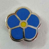 area parties - 10pcs masonic forget me not lapel pin freemasonry gift flower pin dropshipping to some area