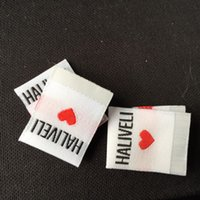 tags for clothing - Center fold custom textile labels private brand woven labels and tags for clothing