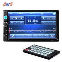 Wholesale New HD car dvd radio MP5 player support the USB TF card Bluetooth Car Stero Radio DIN FM MP5 USB AUX Touch Screen P video