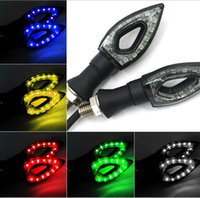 Wholesale High Quality motorcycle different color V a pair LED turn light With bright LED Wick For YAMAHA HONDA