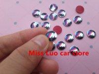 Wholesale 20PCS cm High quality Car M logo Auto Key Fob Emblem Badge Sticker