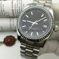 arrival just - New Arrival High quality Brand Automatic Watch Men mm black Dial Analog Silver Case Stainless Band Date Just Watch