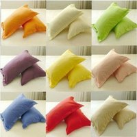 Wholesale 2pc Cotton Pillow Case Solid Stiped Queen King Standard Pillow Cover Colors Hotel Home textile Bedding