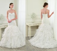 ad bridal - White and Ivory Pleated Sweetheart Off the shoulder Long Layered Wedding Dress Bridal Gown Custom Made ad