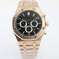 automatic mechanic watch - new top Luxury mens watches Brand Automatic Mechanics mens Watches black dial Royal Stainless Steel gold strap watches men