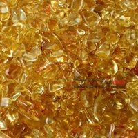 art in stone - Yellow crystal broken stone crystal gravel yellow crystal in bulk