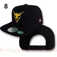 Wholesale Hot sale Baseball Caps Poke Mon Go Caps Pocket Hats Casual Poke Mon Pikachu Adjustable Casual Hats Hip Hop Dance Street Different Color