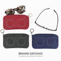 Wholesale Fashion Women Girl Eyeglasses Case Box Bag Soft Wool Tassel Zip Sunglasses Eye Glasses Cases Boxs cm cm