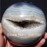 agate sphere - Natural Geode Agate Quartz CRYSTAL SPHERE BALL