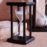 Wholesale 1604 Minute sand Hourglass Countdown Timing cm Modern Wooden Sandglass Sand Clock Timer Home Decoration reloj de arena