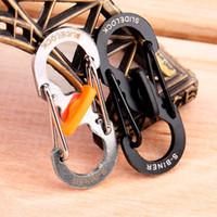 Wholesale 36MM Stainless Steel Shape SLIDELOCK S BINNER Camping Hiking Outdoor Mountaineer Buckle Hanging Hook Clip