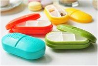 Wholesale High Quality Mini Slots Cute Pill Box Plastic Storage Case Shell Portable Pill Case