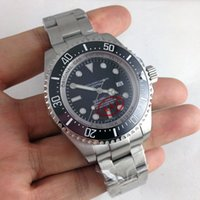 Wholesale Top quality silvery mm mens size black and blue Automatic watch