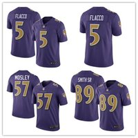 authentic ravens jerseys - 2016 New released Men s Ravens Purple Color Rush Limited Jerseys Baltimore Joe Flacco Steve Smith CJ Mosley authentic football shirt