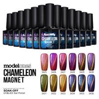 Wholesale Modelones ml Newest Chameleon Magnet Nail Gel Soak Off UV LED Gel Polish Lacquer Gel Polish