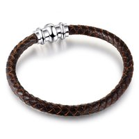 amber leather bangle - 2016 New Genuine leather Bracelets With Top Quality mm Magnetic buckle Fashion Bracelets Women and Mens Bangles DIY Jewelry SA03