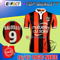 Wholesale 2016 Top Quality Balotelli OGC Nice French League soccer Jersey BELHANDA PLEA WALTER maillot de foot Payet Ocampos Lass football shirt