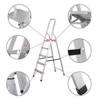 aluminum step platform - Goplus Foldable Step Ladder Non slip lbs Capacity Platform Aluminum New