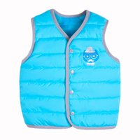 Wholesale 2016 new boys and girls wear vest edging mustache fashion waistcoat factory direct