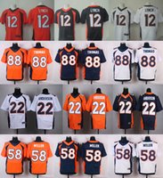 anderson red - 2016 Elite Mens Von Miller Paxton Lynch Demaryius Thomas C J Anderson Stitched Jerseys Orange Free Drop Shipping
