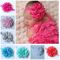Wholesale The new foreign trade hair accessories Tire children wavy edge mesh Snow spins cloth flower hair band