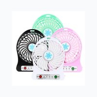 Wholesale Mini USB Fan For Summer Office Portable Mini Usb Fan Rechargeable mAh Li ion Battery Multifunctional Cooling Fan