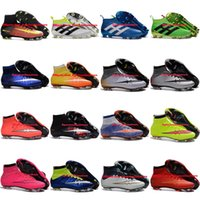 Wholesale Mens Kids Soccer Shoes Boots Mercurial Superfly FG Football Boots Women CR7 Superflys Youth ACE PureControl Soccer Cleats Boys Children