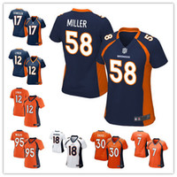 t-shirt - women football Jerseys Von Miller Denver cheap Broncos jerseys Demaryius Thomas Game authentic football shirt size S XL