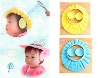 Wholesale 2PC Adjustable Shampoo Cap Barber Protection Waterproof Hat For Baby and Children