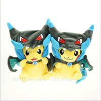 Wholesale Poke Pikachu Plush Toys Poke Ball Stuffed Dolls Anime Stuffed Pocket Monster Dolls Toys Umbreon Eevee Espeon Vaporeon Leafeon Dolls B789